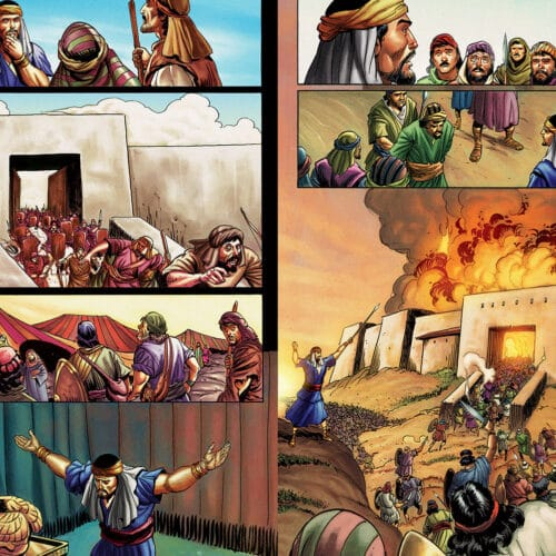 Illustration examples from The Action Bible